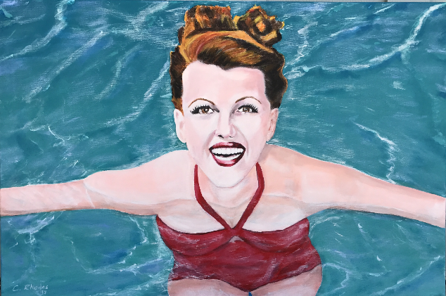 Rita Hayworth It's Hot Enough To Swim