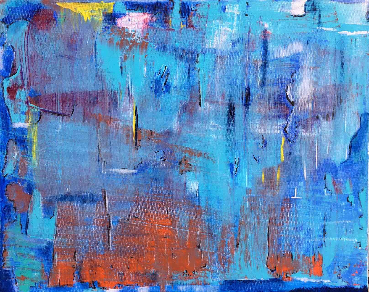 Blue and Orange Abstract